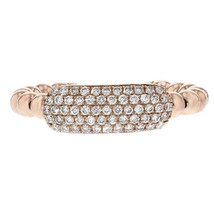 0.39ct Round Cut Diamonds 14k Rose Gold Midi Ring One Size - £384.64 GBP