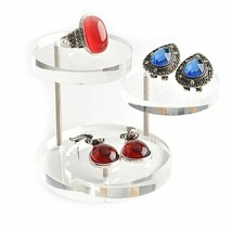 Jewelry Stand Fashion Earring Ring Bracelet Necklace Acrylic Holder Disp... - $8.05