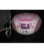 Hello Kitty CD Player Boombox Stereo Radio Tape Recorder 2008 KT2028A - $30.00