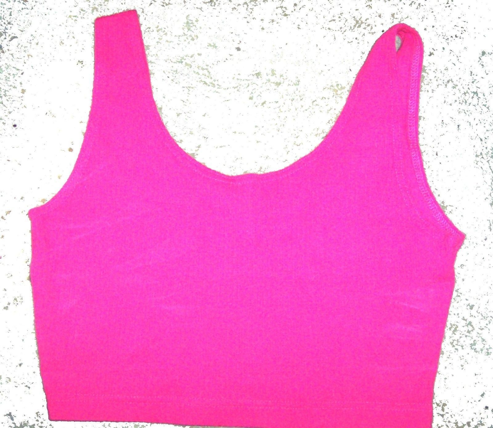 Sz M/L - Cristina Fuschia Pink Ribbed Crop Top