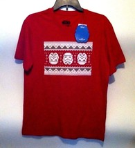 Star Wars S Small Shirt Tee Red Ugly Christmas Sweater Short Sleeve Cott... - $5.24