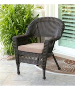 "Diva At Home 36"" Espresso Resin Wicker Outdoor Patio Garden Chair Brown ... - $464.05"