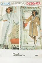 Vtg 70s Vogue American Designer Sant'Angelo 1232 Boho Misses Robe Patter... - $27.29
