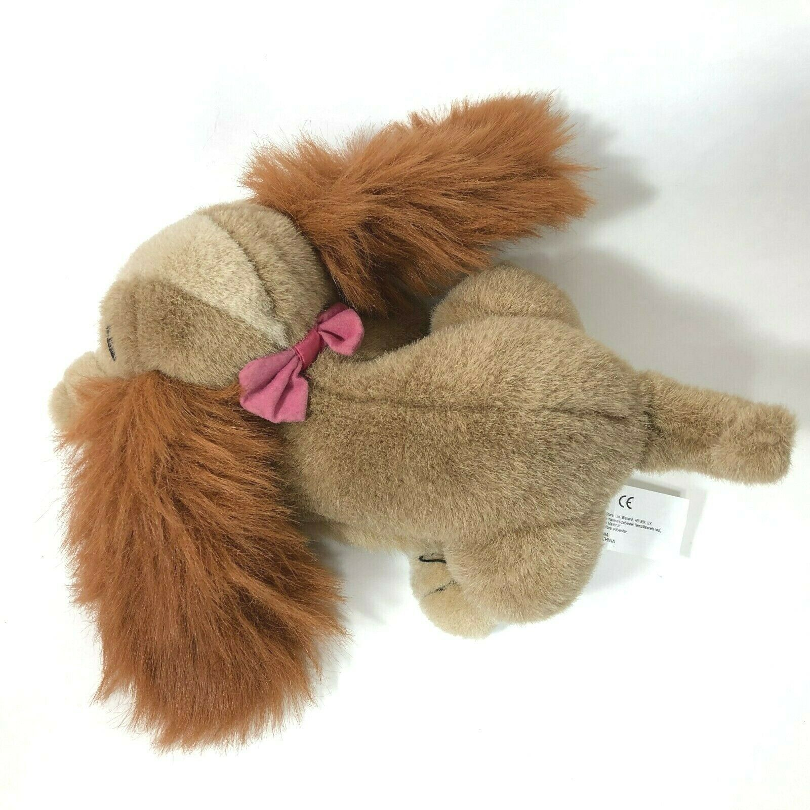 "Disney LADY and the Tramp 10"" Plush Stuffed Animal Pink Bow Vintage image 5"