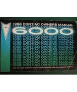 1988 PONTIAC 6000 OWNERS OPERATORS MANUAL - £15.38 GBP