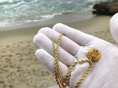 PERU 1 ESCUDO 1736 PENDANT NECKLACE PIRATE GOLD COINS JEWELRY TREASURE DOUBLOON image 2