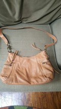 FOSSIL Camel Brown Leather 75082 Hobo Shoulder Bag - $59.39