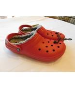 Crocs Classic Lined Clog Pepper/Silver 203591-6MJ Mens M12 M 12 Roomy Fi... - $32.07