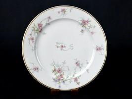 "CH Field Haviland Limoges Dinner Plate 9.5"" Porcelain Plate w/ Pink Flowers - $9.75"