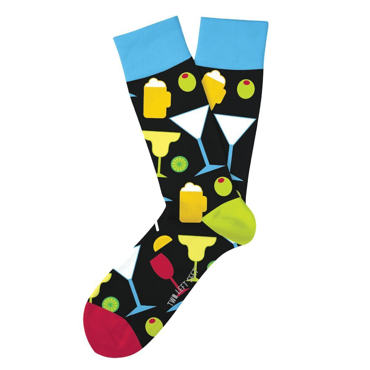 Happy Hour Fun Novelty Socks Two Left Feet Size Dress SOX Casual Beer Coctail