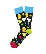 Happy Hour Fun Novelty Socks Two Left Feet Size Dress SOX Casual Beer Co... - £8.28 GBP