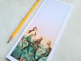 Mermaids at Sea Magnetic Notepad, 50 Sheets, Vintage Inspired image 2