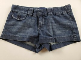 American Eagle Womens Jean Shorts Sz 0 Favorite Short Booty Dark Wash De... - $19.30
