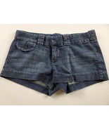 American Eagle Womens Jean Shorts Sz 0 Favorite Short Booty Dark Wash De... - $19.30