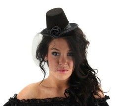 SteamPunk Cosplay Little Victorian Black Top Hat Mini Cocktail Style NEW... - $12.55