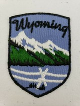 Vintage Voyager Wyoming Patch Grand Tetons Mountains Iron On Travel Souv... - $5.27