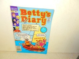 VINTAGE COMIC-ARCHIE COMICS BETTY'S DIARY- # 27 AUGUST 1989--- GOOD-L8 - $1.94