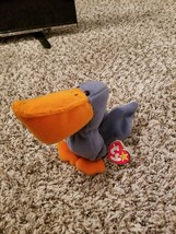 Used TY Rare Beanie Baby Scoop The Pelican With Errors on Tags Limited P... - $400.00