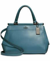 Coach Chambray Blue Refined Calf Leather Grace Satchel Bag - £248.30 GBP