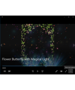Flower Butterfly with Magical Light1 MP4 Video: Moving smp - $5.00