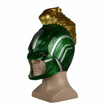 Captain Marvel 2019 Movie Mask Full Head Superhero Women Green Silver He... - $32.47