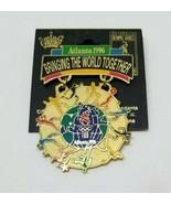 Atlanta 1996 BRINGING THE WORLD TOGETHER Olympic Games Lapel Hat PIN - $9.99