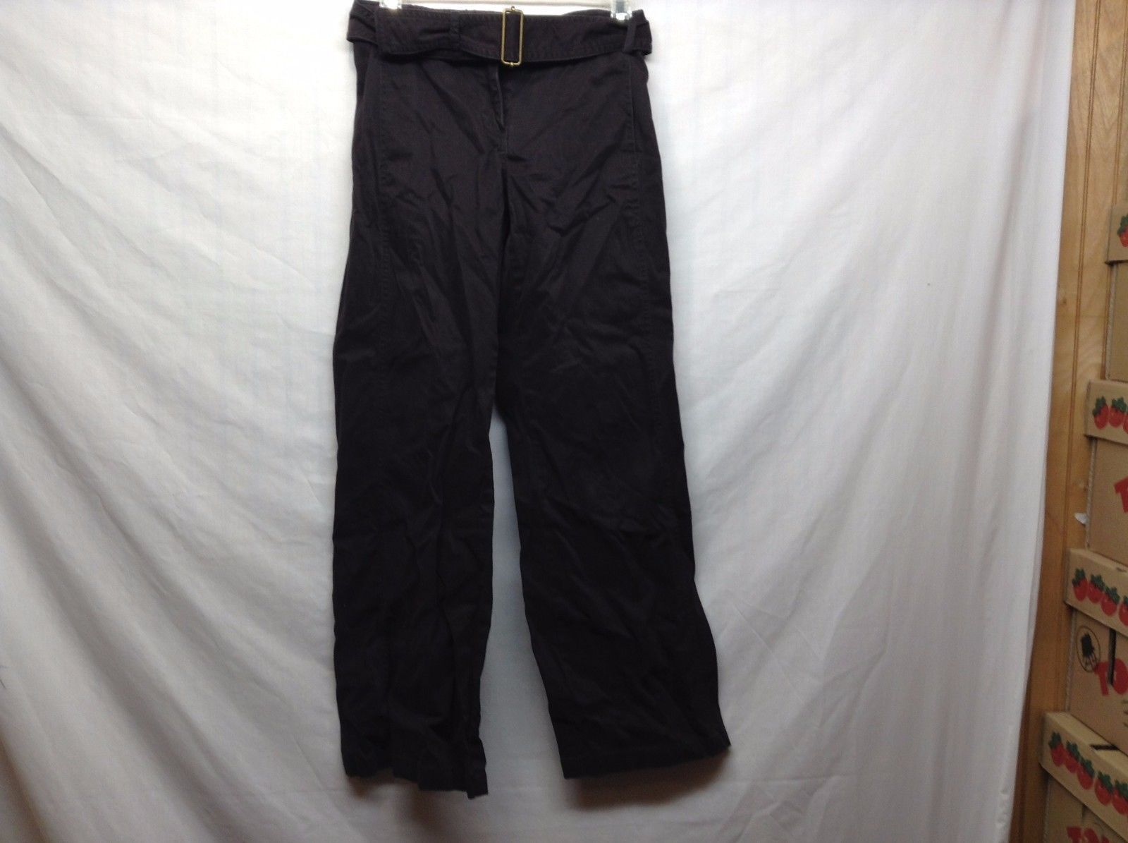 The Limited Dark Brown Belted Pants