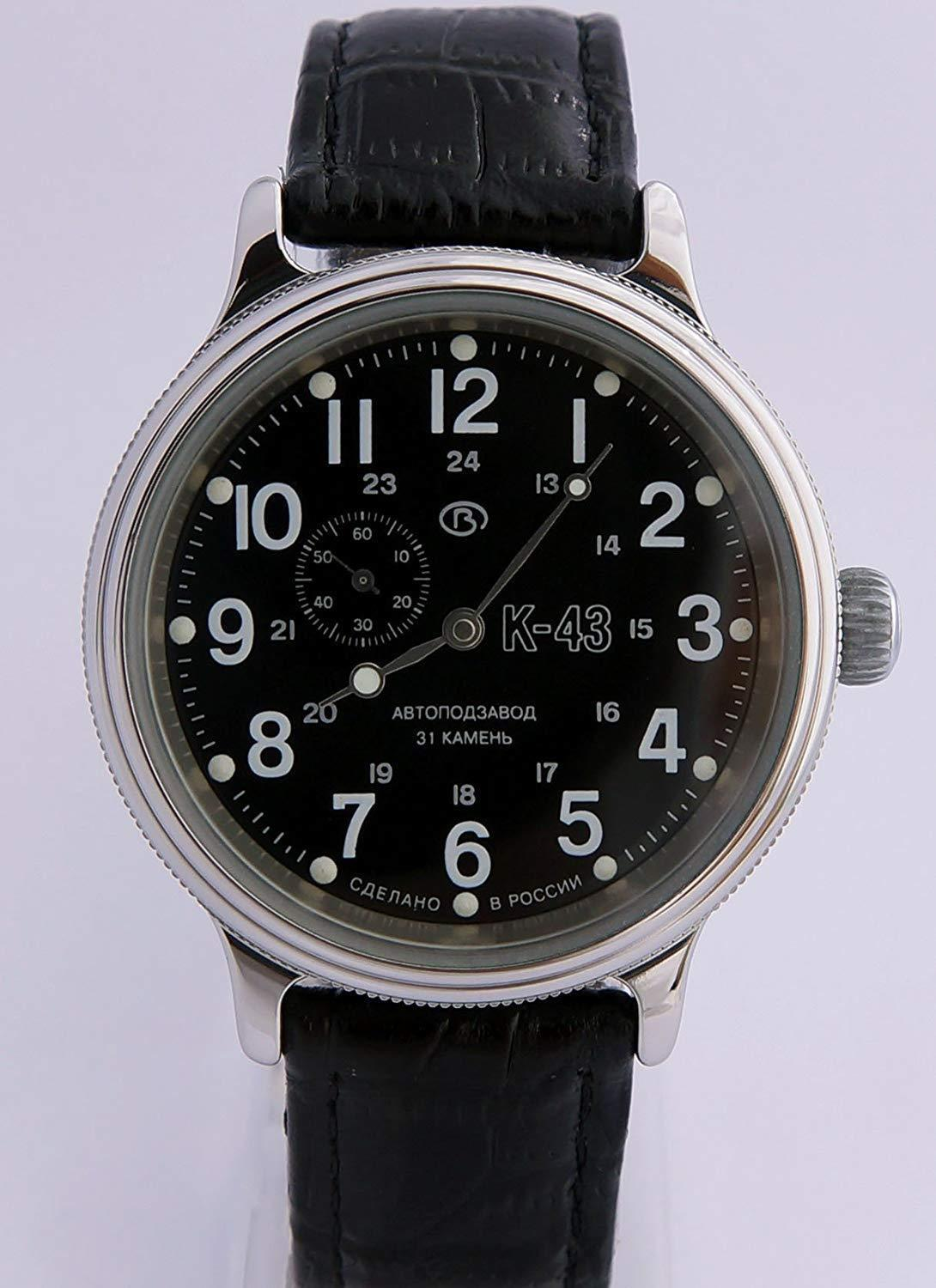 Vostok Retro Kirovskie K43 540854 /2415 Russian Classic Watch Black 1943 image 3