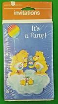 2 Vtg Care Bears Invitations 8 cards/envelopes Each Birthday & Funshine ... - $19.79