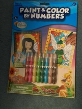 Disney Fairies Paint and Color By Number #17056 - $6.75