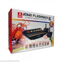 Atari Flashback 6 Flashback Classic Game Console 100 Built-in Games Plug... - $52.99