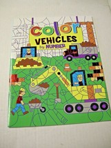 Color Vehicles By Numbers Coloring Book By Vision St. Publishing, Paperb... - $5.99