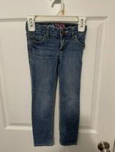 Gap Kids 1969 Girls Super Skinny Adjustable Waist Blue Jeans Size 5 Slim - $9.89
