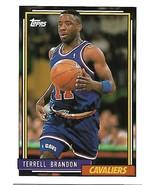 Basketball Card- Terrell Brandon 1992 Topps #69 - $1.25