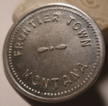 HARD TO FIND Trade Token 5 Cents Frontier Town Montana John & Sue Quigley - $30.00
