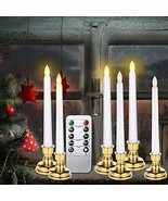 Window Candles with Remote Timers, 6 Packs Battery Operated Flickering F... - $32.72