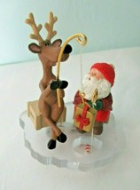 Fishing for Fun Hallmark Keepsake Collectors Club 1995 Santa Reindeer Or... - $20.00
