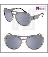VERSACE METAL MESH Medusa 2175 Silver Mirrored Black VE2175 Sunglasses U... - $177.31