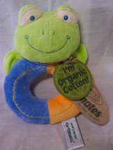 Mary Meyer Earthmates ORGANIC COTTON FROG BABY RATTLE Plush STUFFED ANIM... - $15.35