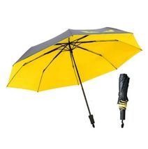 1Pcs Yellow Black Simple Large Umbrella Dual Use Anti UV Sunny And Rainy - $23.80