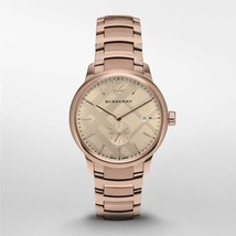 Burberry BU10013 The Classic Round Rose Gold Tone Watch 40 mm - Warranty - $422.00
