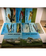Vintage 9 issues SPORT AVIATION Airplane Monthly Magazine 1971 - $29.69