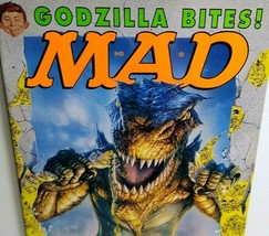 MAD Magazine June 1998 No 370 Godzilla Bites Monster Cover No Label Collectible - $13.32