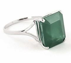 925 Sterlingsilber Handmade Natürlich Zertifiziert 10.00 Karat Emeraldst... - $54.99