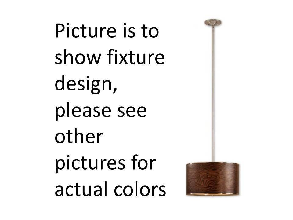 Modern Black Wood Finish and Chrome Accent Pendant Light Uttermost Lighting