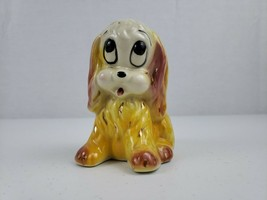 VTG Hull Planter Pink and Yellow Hound Dog Ceramic Big Eyes Gold Accents... - $24.99