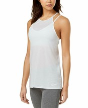 Nike Dry Layered Tank Top , Color:White,Light Blue ,  Size:XS  , MSRP 50$ - $20.48