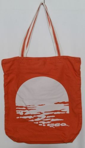 American Eagle Outfitters 7488 AE Everyday Tote Magnetic Closure Color Orange