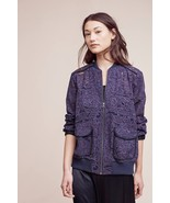 NWT ANTHROPOLOGIE MIRANDA LACE BOMBER JACKET by ELEVENSES M - $85.49