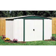 8 x 6' Steel Garden Storage Shed w/ Galvanized Steel Low gable & reinfor... - $495.04